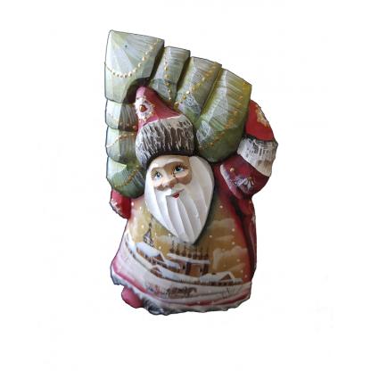 "Фигурка из дерева ""Дед мороз с елочкой"""