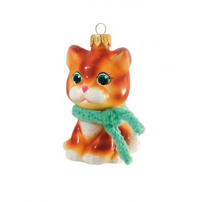 """Елочная игрушка """"Котенок Рыжик"""""""