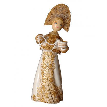 Кукла деревянная с ожерельем в ассортименте