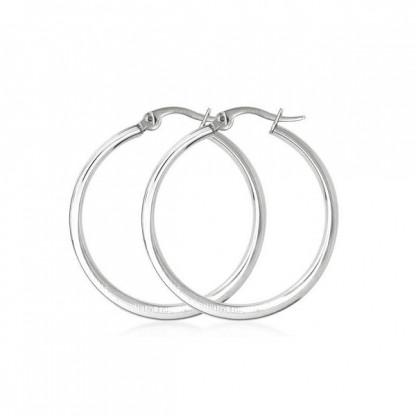 Серьги кольца из стали, диаметр 4,5 см