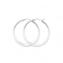 Серьги кольца из стали, диаметр 3,5 см