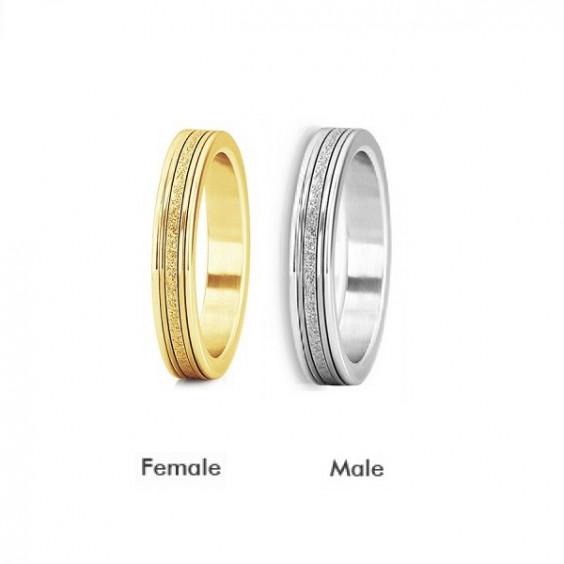 Кольца парные стальные с алмазным напылением