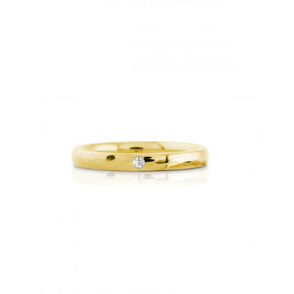 Кольцо стальное с белым фианитом и многогранной поверхностью в ассортименте