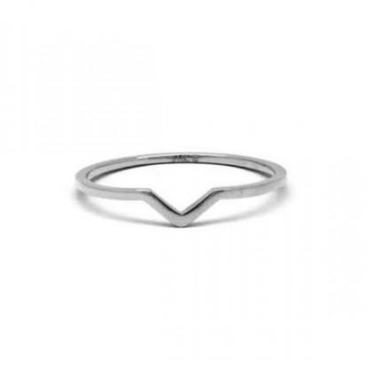 Кольцо стальное на мизинец
