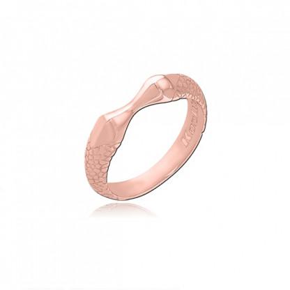 Кольцо стальное мужское, pvd розовое золото, коллекция Kool Katana