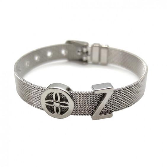 Браслет-ремень из стали с шармом, коллекция Belt