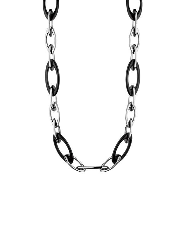 Ожерелье из стали с черным pvd покрытием
