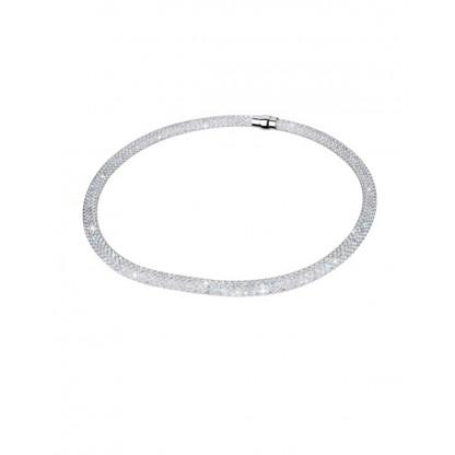 Ожерелье из стали с кристаллами, эффект AB