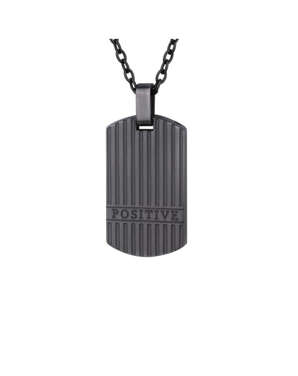 Кулон стальной Positive, цвет Antique grey
