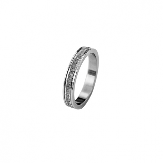 Кольцо из стали унисекс с алмазным напылением