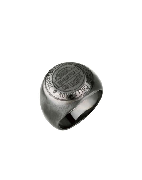 Перстень мужской стальной, цвет Antique grey