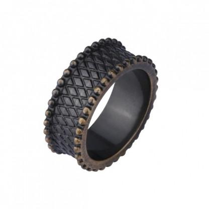 Кольцо женское стальное, античный дизайн,цвет Antique