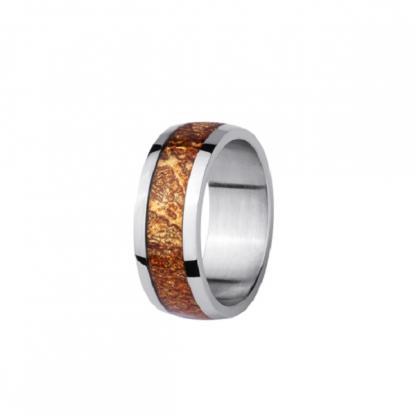 Кольцо из стали с эпоксидной смолой бронзово-золотистое