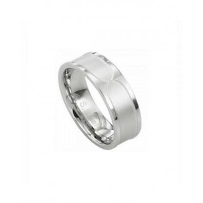 Кольцо стальное с матово-глянцевой поверхностью