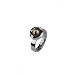 Кольцо стальное с жемчужиной Swarovski в ассортименте