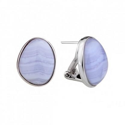 Серьги из серебра 925 с голубым агатом