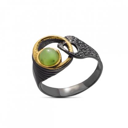 Нефрит, серебро 925, кольцо и кулон комплект - купить по лучшей ...   416x416