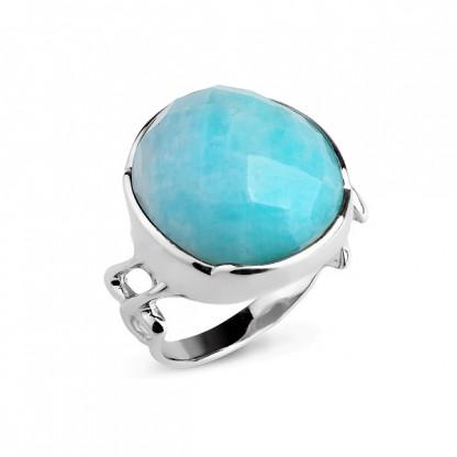 Кольцо из серебра 925 с амазонитом