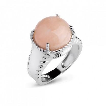 Кольцо из серебра 925 с морганитом