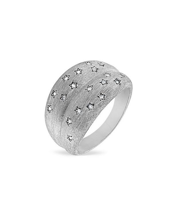 """Кольцо из серебра 925 женское с топазом """"Звездное небо"""""""