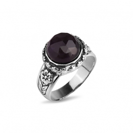 Кольцо из серебра 925 с аметистом