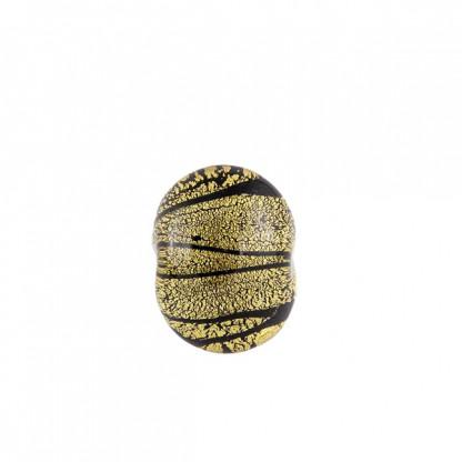 Кольцо женское Vlad из муранского стекла с золотой фольгой