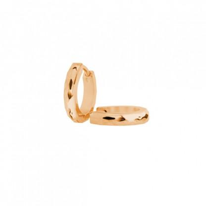 Серьги кольца стальные с золотым покрытием в ассортименте