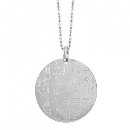 Кулон с Египетскими иероглифами из стали