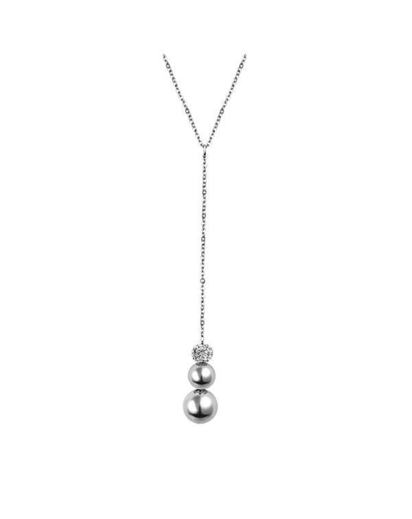 Ожерелье из стали, с фианитами
