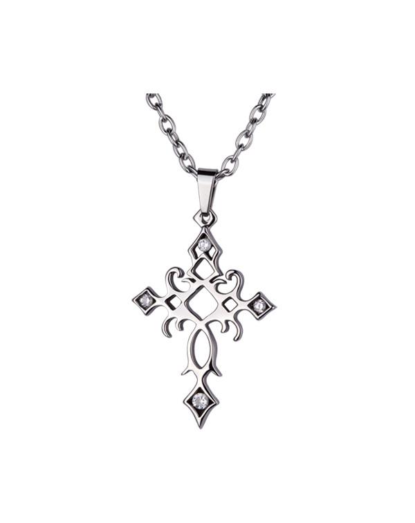 Кулон-крест из стали