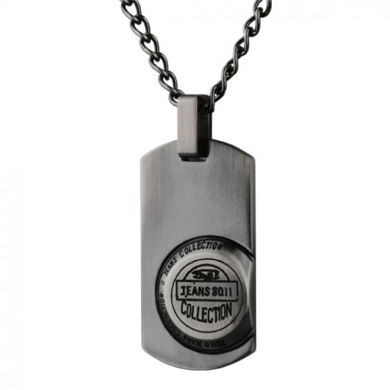 Кулон из стали, цвет Antique grey