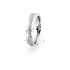 Кольцо стальное с потертой структурой