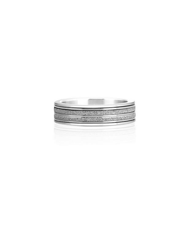 """Кольцо из стали с алмазным напылением, коллекция """"Сияние"""""""