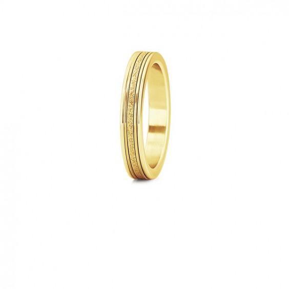 """Кольцо стальное с золотым pvd и алмазным напылением, коллекция """"Сияние"""""""