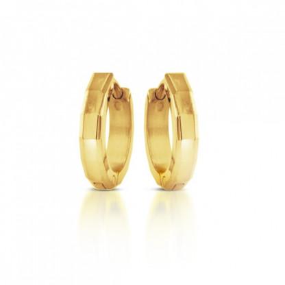 Серьги из стали c золотым покрытием в ассортименте