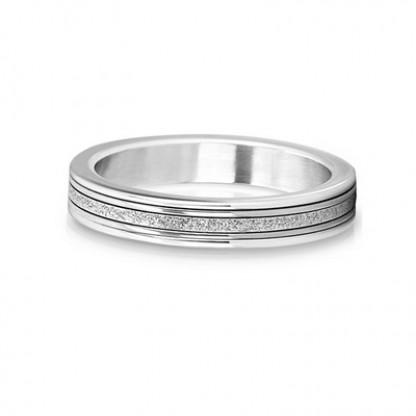 """Кольцо стальное с алмазным напылением, коллекция """"Сияние"""""""
