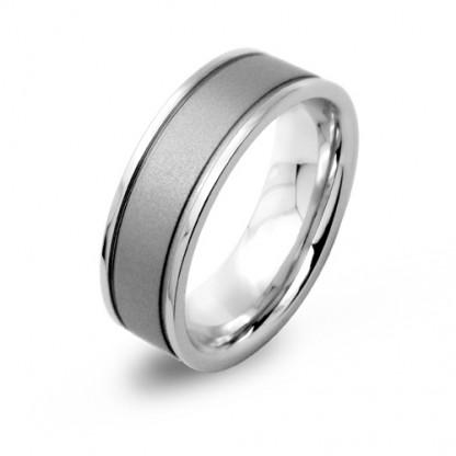 Кольцо стальное с матовой поверхностью