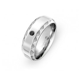 Кольцо стальное с чер...