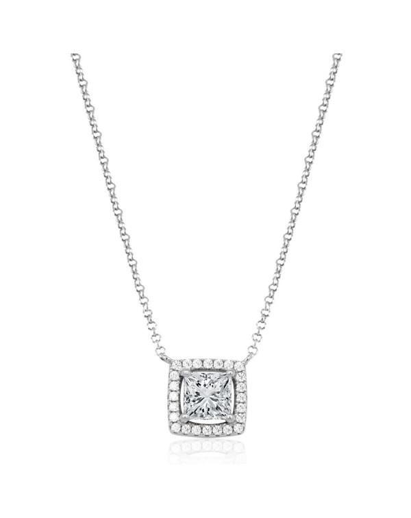 Ожерелье с квадратным...