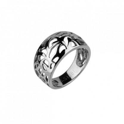 Кольцо стальное ажурное