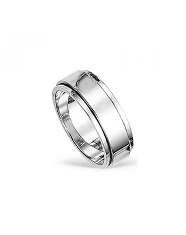 Кольцо стальное с крутящейся центральной частью