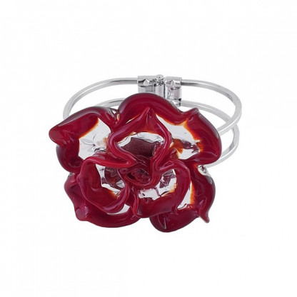 """Браслет из муранского стекла """"Роза"""", цвета в ассортименте"""
