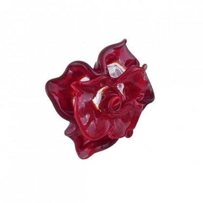 """Кольцо из муранского стекла """"Роза"""", цвета в ассортименте"""