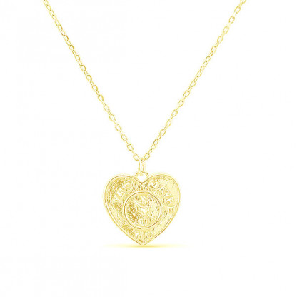 """Колье из серебра 925 """"Гадание на любовь"""", золотой цвет"""