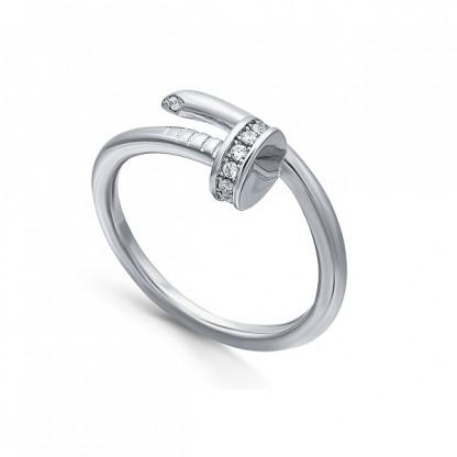 """Кольцо из серебра 925 """"Гвоздик"""" с фианитами"""