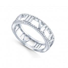 Кольцо из серебра 925 с римскими цифрами