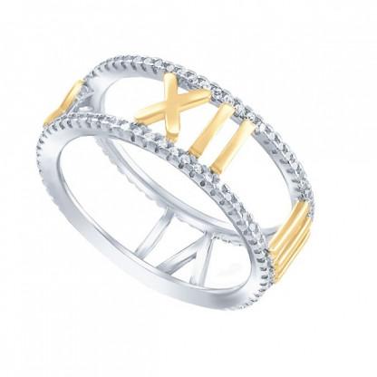 01R5636mix-127 Кольцо (серебро 925, куб.цирконий )