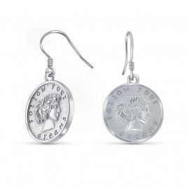 """Серьги из серебра 925 """"Следуй своим мечтам"""""""