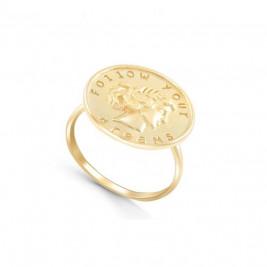 """Кольцо из серебра 925 """"Следуй своим мечтам"""" с позолотой"""
