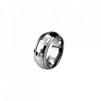 Кольцо стальное с глянцевой структурированной поверхностью